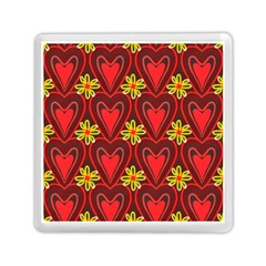 Digitally Created Seamless Love Heart Pattern Memory Card Reader (square)