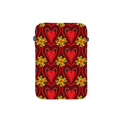 Digitally Created Seamless Love Heart Pattern Apple Ipad Mini Protective Soft Cases by Nexatart