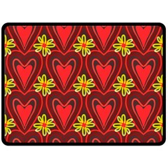 Digitally Created Seamless Love Heart Pattern Double Sided Fleece Blanket (large)  by Nexatart