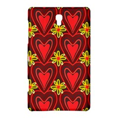 Digitally Created Seamless Love Heart Pattern Samsung Galaxy Tab S (8 4 ) Hardshell Case