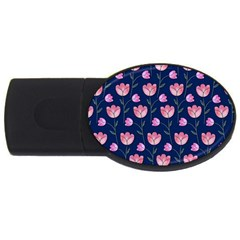 Watercolour Flower Pattern Usb Flash Drive Oval (2 Gb) by Nexatart