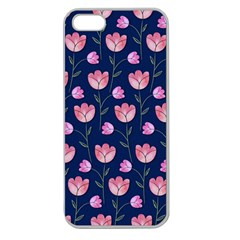 Watercolour Flower Pattern Apple Seamless Iphone 5 Case (clear)