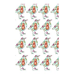 Floral Birds Wallpaper Pattern On White Background Shower Curtain 48  X 72  (small)  by Nexatart