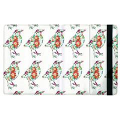 Floral Birds Wallpaper Pattern On White Background Apple Ipad 3/4 Flip Case by Nexatart