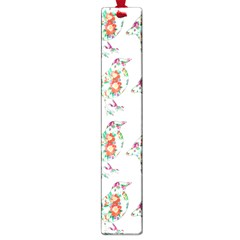 Floral Birds Wallpaper Pattern On White Background Large Book Marks by Nexatart