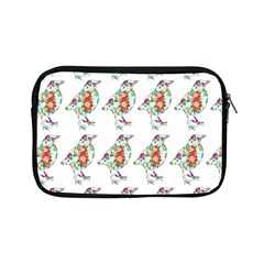 Floral Birds Wallpaper Pattern On White Background Apple Ipad Mini Zipper Cases
