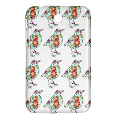 Floral Birds Wallpaper Pattern On White Background Samsung Galaxy Tab 3 (7 ) P3200 Hardshell Case