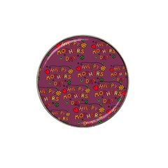 Happy Mothers Day Text Tiling Pattern Hat Clip Ball Marker (10 Pack)
