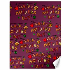 Happy Mothers Day Text Tiling Pattern Canvas 36  X 48