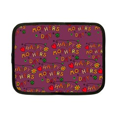 Happy Mothers Day Text Tiling Pattern Netbook Case (small)  by Nexatart