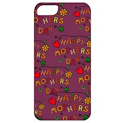Happy Mothers Day Text Tiling Pattern Apple Iphone 5 Classic Hardshell Case