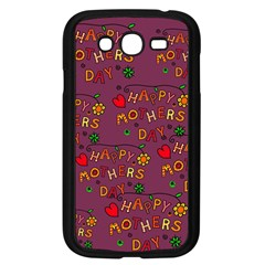 Happy Mothers Day Text Tiling Pattern Samsung Galaxy Grand Duos I9082 Case (black) by Nexatart
