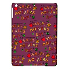 Happy Mothers Day Text Tiling Pattern Ipad Air Hardshell Cases by Nexatart