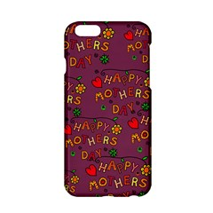 Happy Mothers Day Text Tiling Pattern Apple Iphone 6/6s Hardshell Case by Nexatart