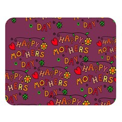 Happy Mothers Day Text Tiling Pattern Double Sided Flano Blanket (large)  by Nexatart