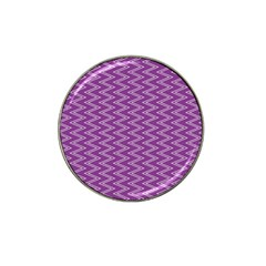 Purple Zig Zag Pattern Background Wallpaper Hat Clip Ball Marker (10 Pack) by Nexatart
