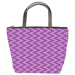 Purple Zig Zag Pattern Background Wallpaper Bucket Bags