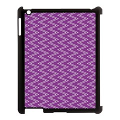 Purple Zig Zag Pattern Background Wallpaper Apple Ipad 3/4 Case (black) by Nexatart