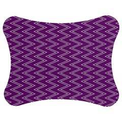 Purple Zig Zag Pattern Background Wallpaper Jigsaw Puzzle Photo Stand (bow)