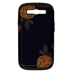 Floral Roses Seamless Pattern Vector Background Samsung Galaxy S Iii Hardshell Case (pc+silicone) by Nexatart