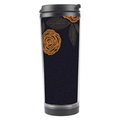Floral Roses Seamless Pattern Vector Background Travel Tumbler