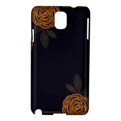 Floral Roses Seamless Pattern Vector Background Samsung Galaxy Note 3 N9005 Hardshell Case by Nexatart