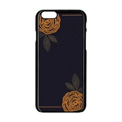 Floral Roses Seamless Pattern Vector Background Apple Iphone 6/6s Black Enamel Case by Nexatart