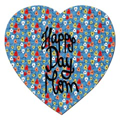 Happy Mothers Day Celebration Jigsaw Puzzle (heart) by Nexatart