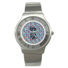 Happy Mothers Day Celebration Stainless Steel Watch by Nexatart