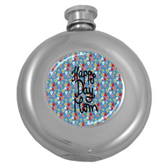 Happy Mothers Day Celebration Round Hip Flask (5 Oz) by Nexatart