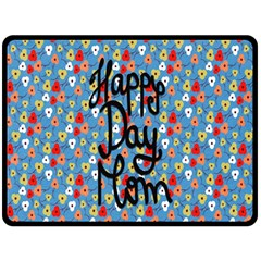 Happy Mothers Day Celebration Double Sided Fleece Blanket (large)  by Nexatart