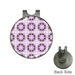 Pretty Pink Floral Purple Seamless Wallpaper Background Hat Clips With Golf Markers by Nexatart