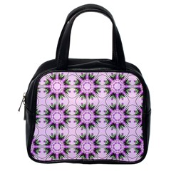 Pretty Pink Floral Purple Seamless Wallpaper Background Classic Handbags (one Side) by Nexatart