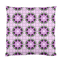 Pretty Pink Floral Purple Seamless Wallpaper Background Standard Cushion Case (one Side) by Nexatart