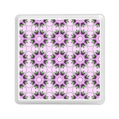 Pretty Pink Floral Purple Seamless Wallpaper Background Memory Card Reader (square)  by Nexatart