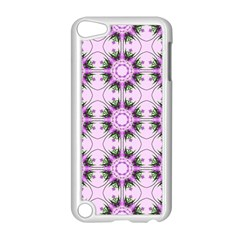 Pretty Pink Floral Purple Seamless Wallpaper Background Apple Ipod Touch 5 Case (white) by Nexatart
