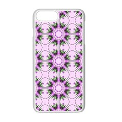 Pretty Pink Floral Purple Seamless Wallpaper Background Apple Iphone 7 Plus White Seamless Case by Nexatart