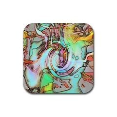 Art Pattern Rubber Coaster (square)  by Nexatart