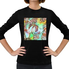 Art Pattern Women s Long Sleeve Dark T Shirts