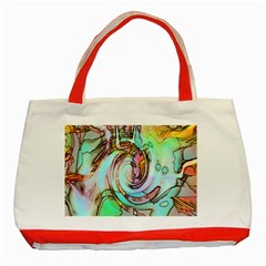 Art Pattern Classic Tote Bag (red) by Nexatart