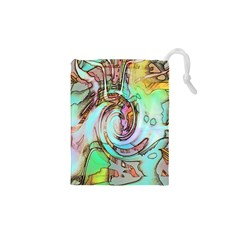 Art Pattern Drawstring Pouches (xs)  by Nexatart