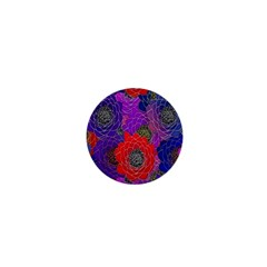 Colorful Background Of Multi Color Floral Pattern 1  Mini Buttons