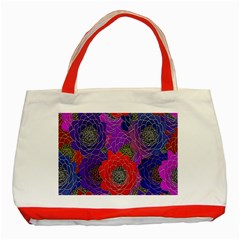 Colorful Background Of Multi Color Floral Pattern Classic Tote Bag (red)