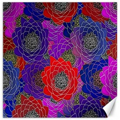 Colorful Background Of Multi Color Floral Pattern Canvas 12  X 12