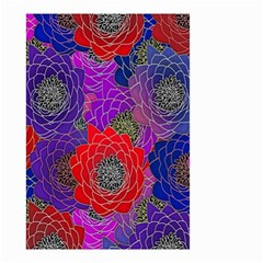 Colorful Background Of Multi Color Floral Pattern Small Garden Flag (two Sides) by Nexatart