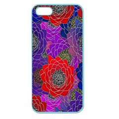 Colorful Background Of Multi Color Floral Pattern Apple Seamless Iphone 5 Case (color) by Nexatart