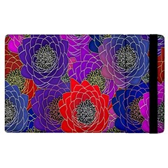 Colorful Background Of Multi Color Floral Pattern Apple Ipad 2 Flip Case by Nexatart
