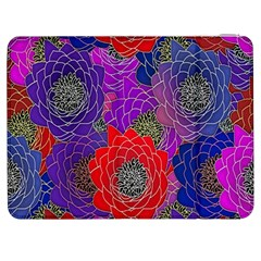 Colorful Background Of Multi Color Floral Pattern Samsung Galaxy Tab 7  P1000 Flip Case by Nexatart