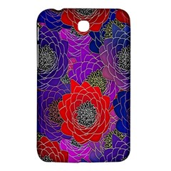 Colorful Background Of Multi Color Floral Pattern Samsung Galaxy Tab 3 (7 ) P3200 Hardshell Case  by Nexatart