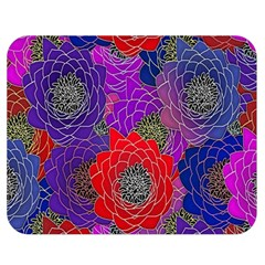 Colorful Background Of Multi Color Floral Pattern Double Sided Flano Blanket (medium)  by Nexatart